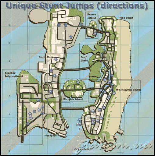 Grand Theft Auto: Vice City - Уникальные прыжки в GTA:VC