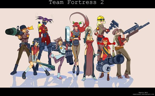 Team Fortress 2 - Фан-арт по TF2: girls...