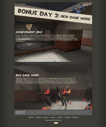 Bonus Day 2: New Game Mode