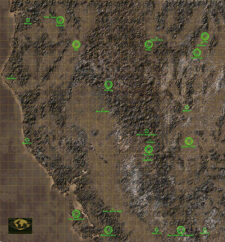 Прохождение fallout карта