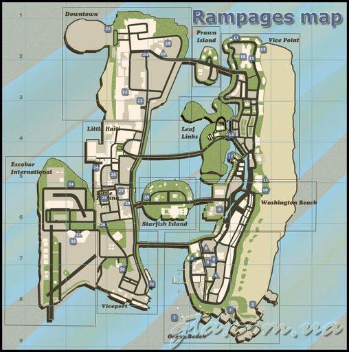 Grand Theft Auto: Vice City - Карты GTA:VC