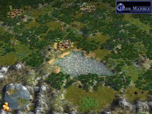 Civilization IV: Колонизация - Blue Marble - Earth Desing для Колонизации