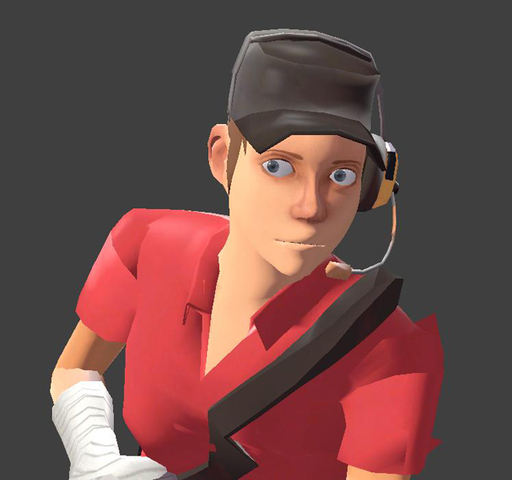 Team Fortress 2 - Скаут-девушка