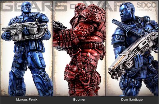 Gears of War - Бронзовые статуэтки