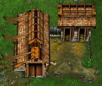 Battle Realms - Обзор классов в Battle Realms. Клан Дракона. Здания
