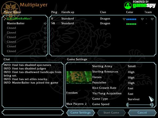 Battle Realms - Rush(Быстрая атака) Змея против разных кланов