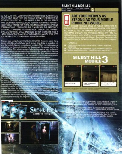 "Silent Hill: Shattered Memories - Журнал ""On Screen"": превью Silent Hill: Shattered Memories и анонс Silent Hill: Mobile 3"