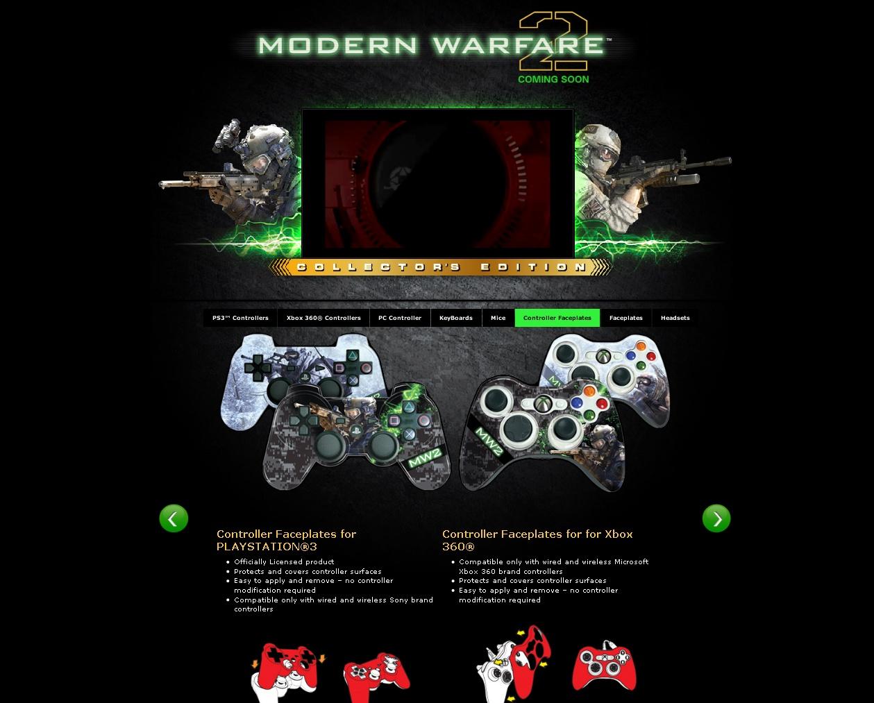 Снаряжение геймера MW2 от Mad Catz — Modern Warfare 2 — Игры
