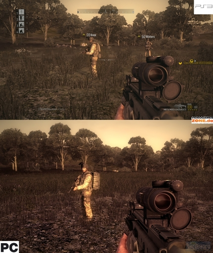 Operation Flashpoint: Dragon Rising - PC vs PS3