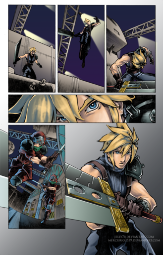 Final Fantasy VII - Comics and art  by Jesse Elliott
