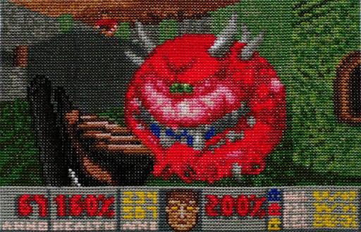 Doom II - Скриншот, вышитый крестиком