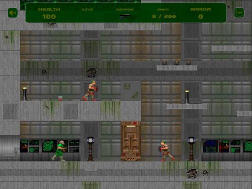 Doom II - Игры на флэше - Doom Triple Pack и Flash-DooM 2D