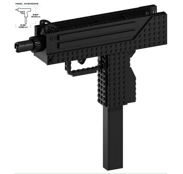инструкция по сборке пистолета из лего видео - фото 10
