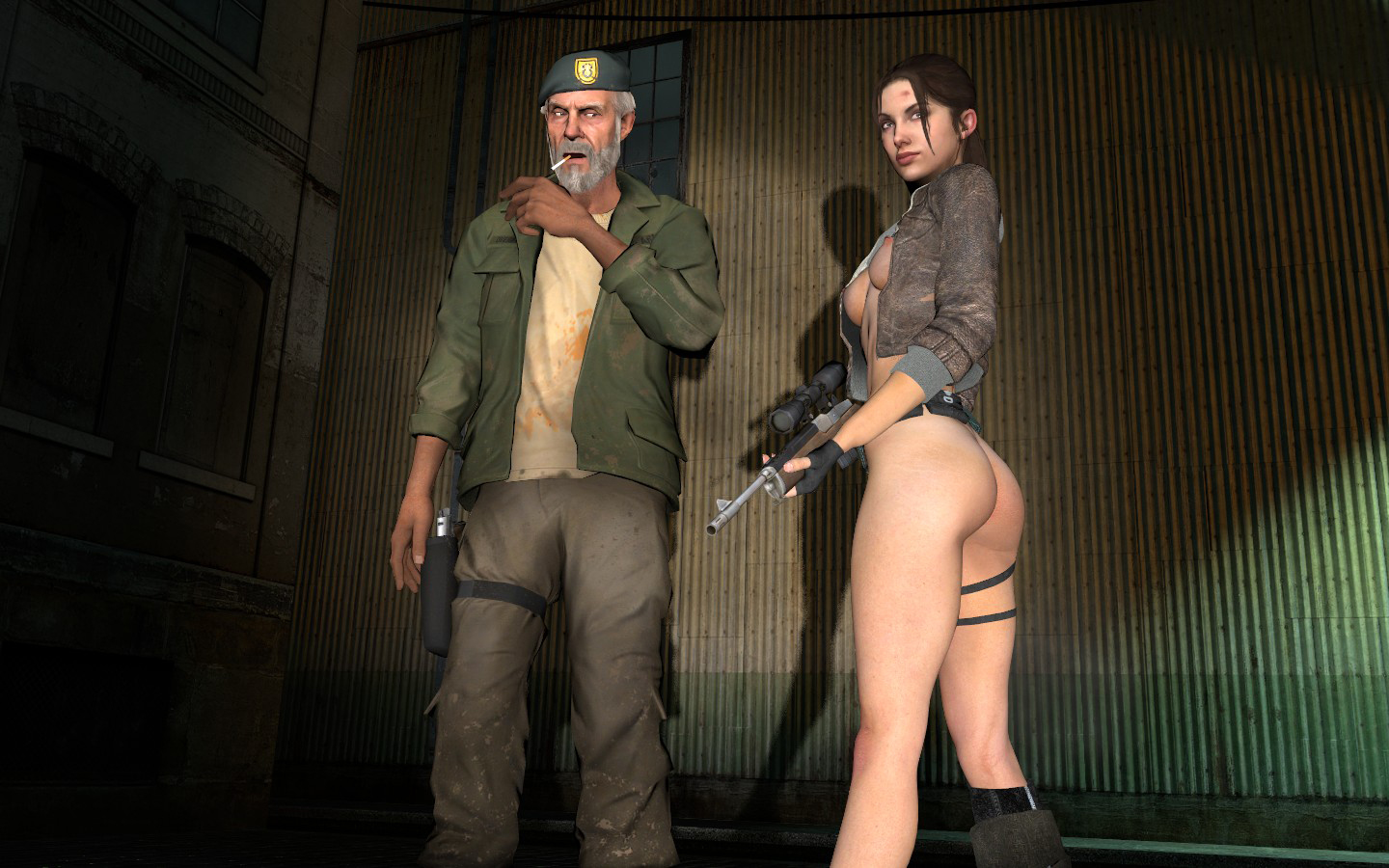 Sexy naked zoey from left for dead  sexy toons