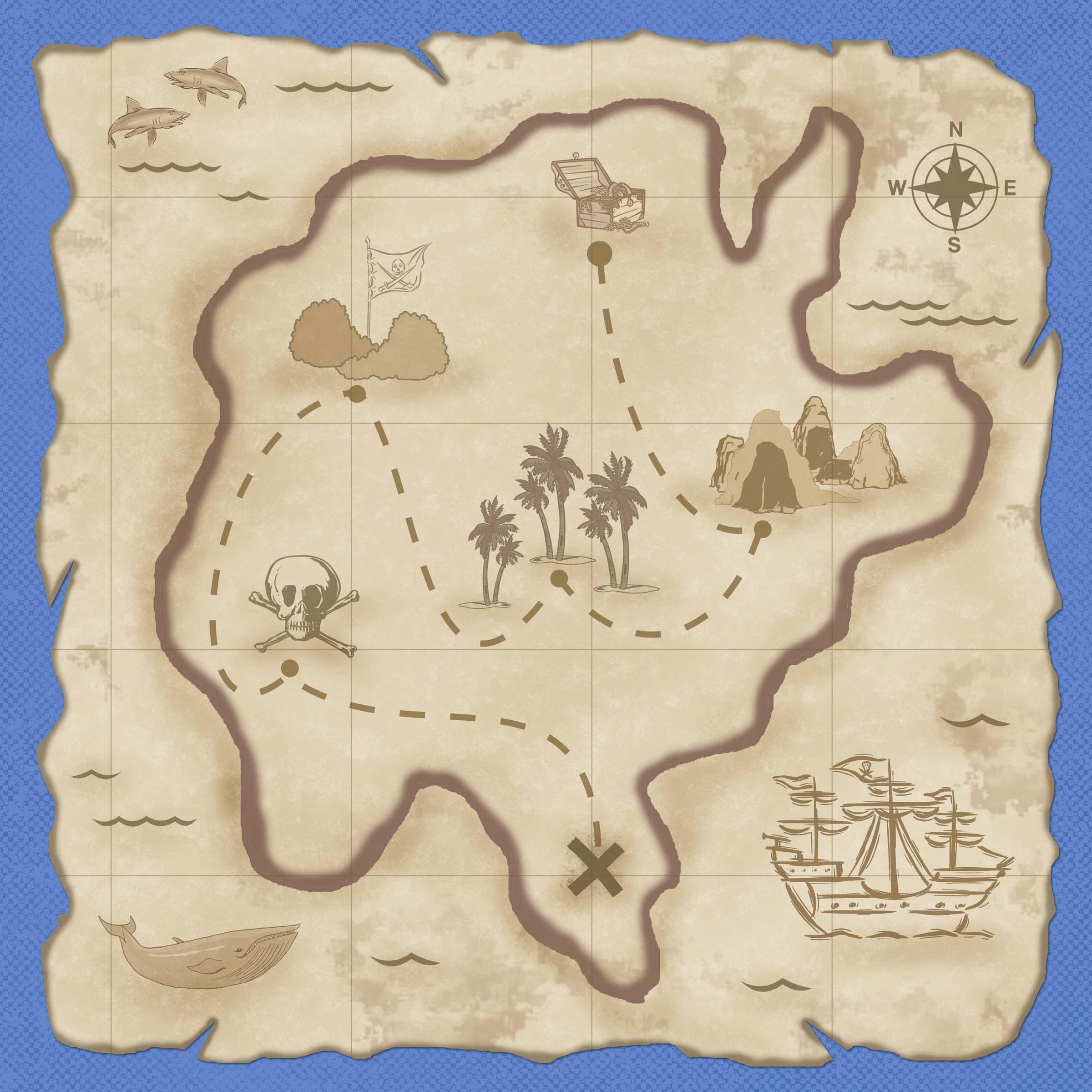 Карта сокровищ сделать своими руками