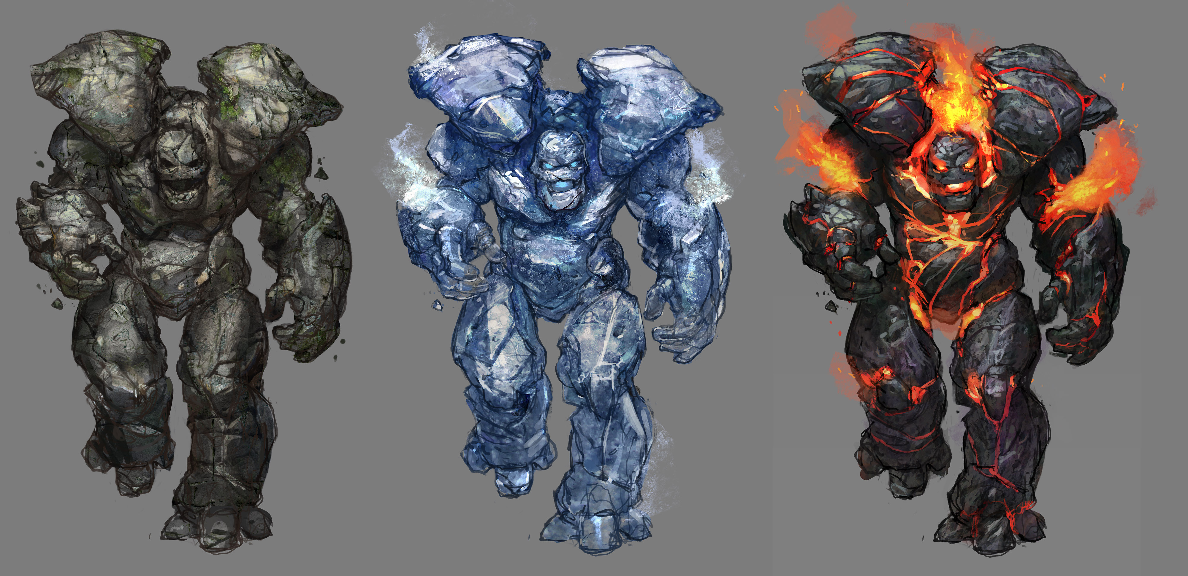 Image result for Earth Golem and Lava Golem comparison