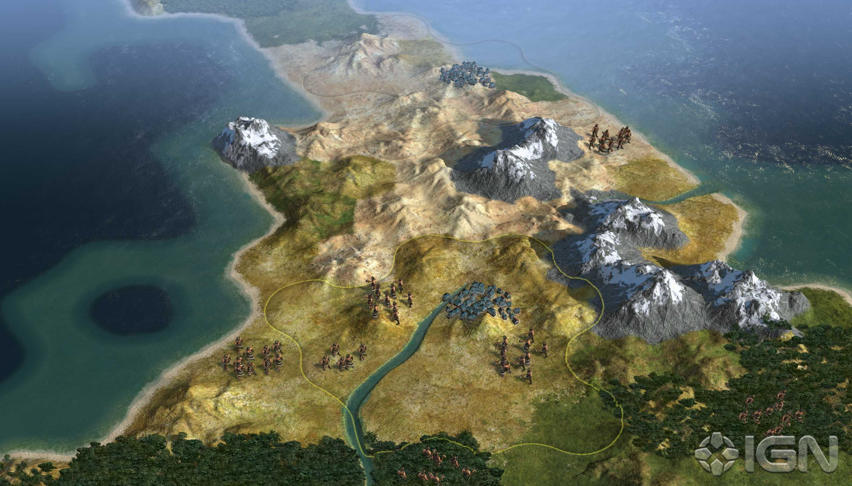 Civ 5 mountains