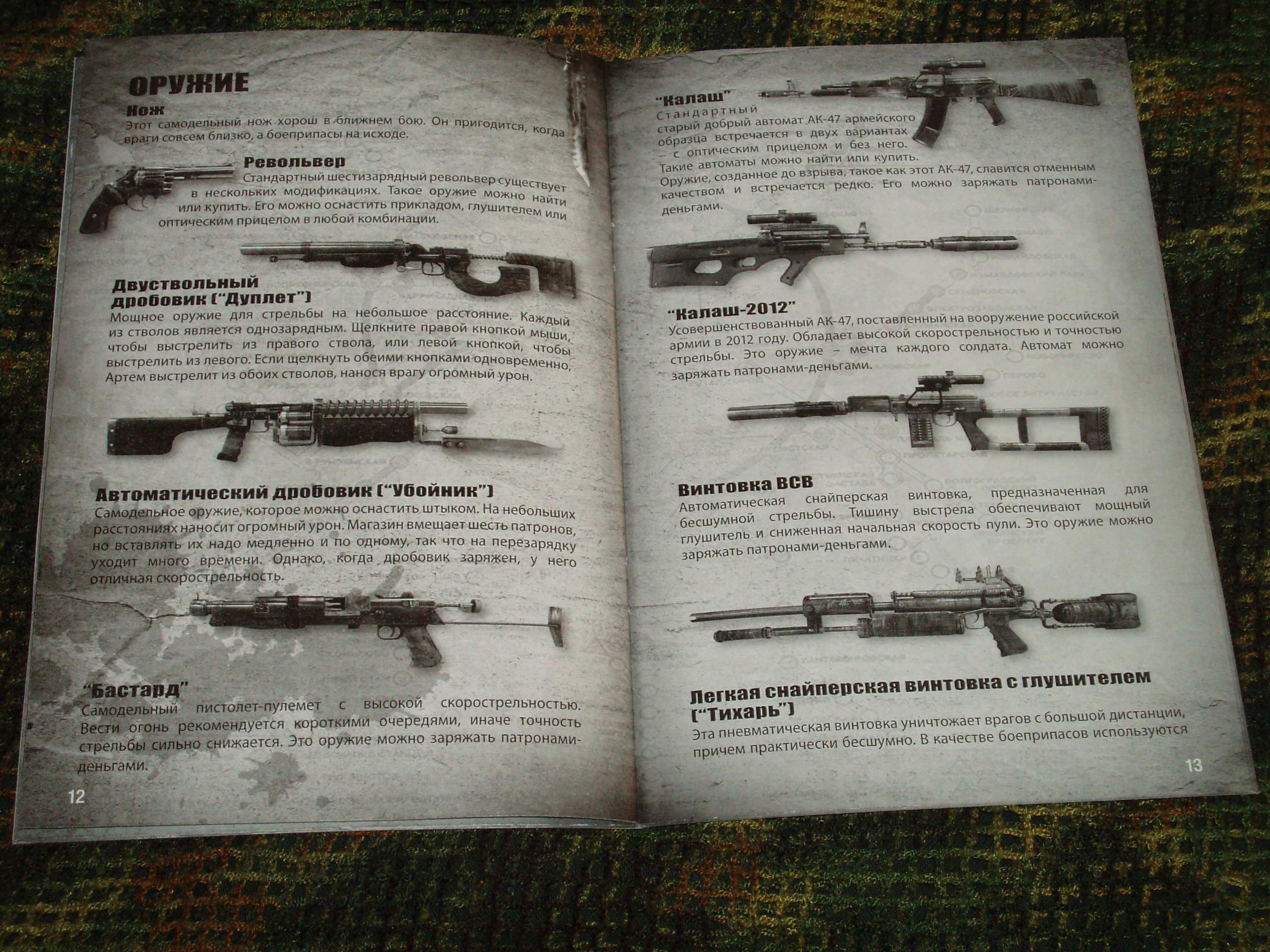 Метро 2033 оружие в игре
