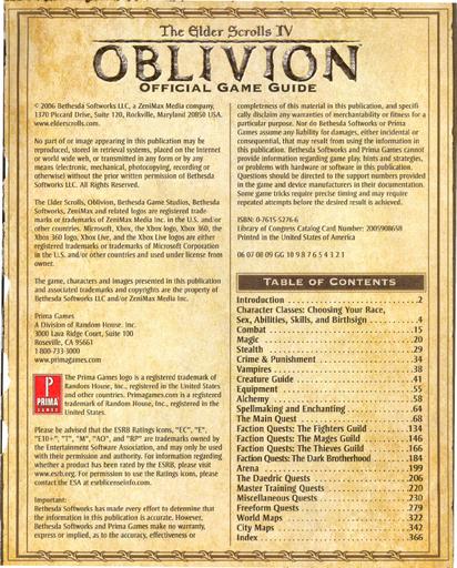 Elder Scrolls IV: Oblivion, The - Полное руководство по Elder Scrolls Oblivion