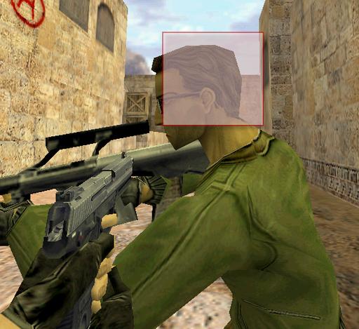 Half-Life: Counter-Strike - Хитбоксы головы, при позиции лоб-в-лоб