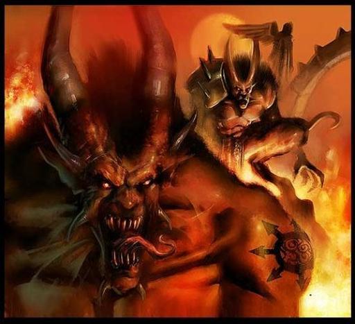 Демон гнева разрушения и жестокости