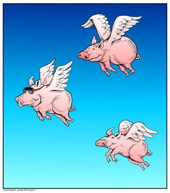 Свинки полетели