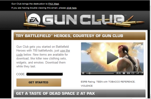Battlefield Heroes - 700 battlefunds from EA's Gunclub
