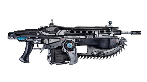 """Gears of War 2 - 3D модель штурмовой винтовки """"Лансер"""""""