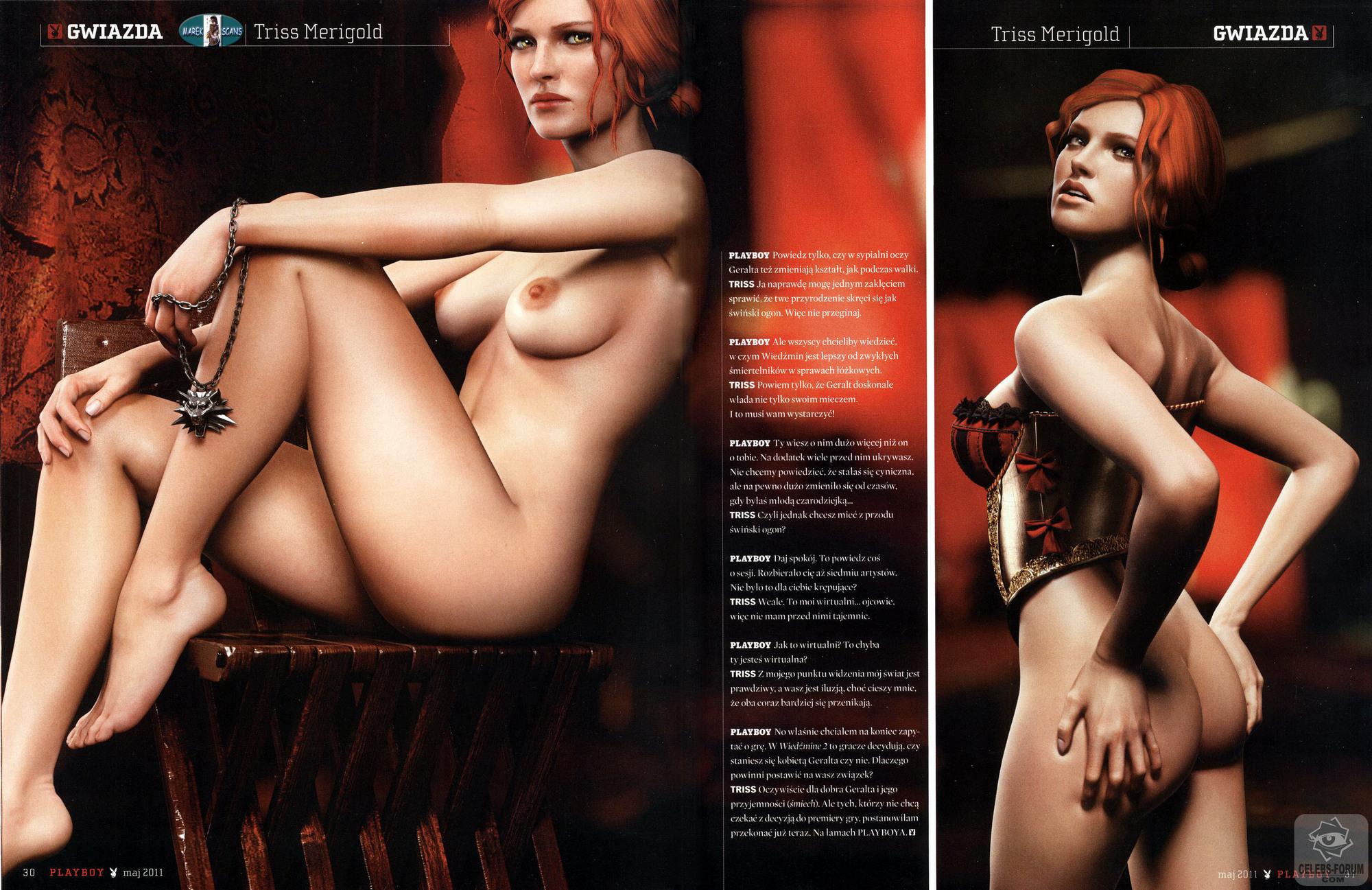 Ведьмак 2: Убийцы королей - Трисс на обложке журнала Playboy!