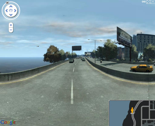 Grand Theft Auto IV - Google Street View теперь и в Liberty City