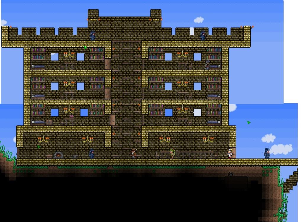 Как сделать дом мага в террарии