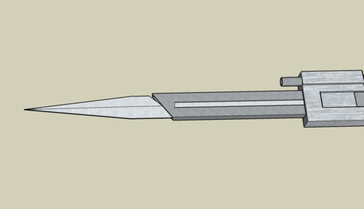 3D модель клинка Ассасина.