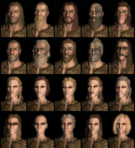 Elder Scrolls V: Skyrim, The - The Races and Faces of Skyrim