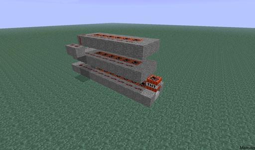 как создать динамитную пушку в minecraft #9