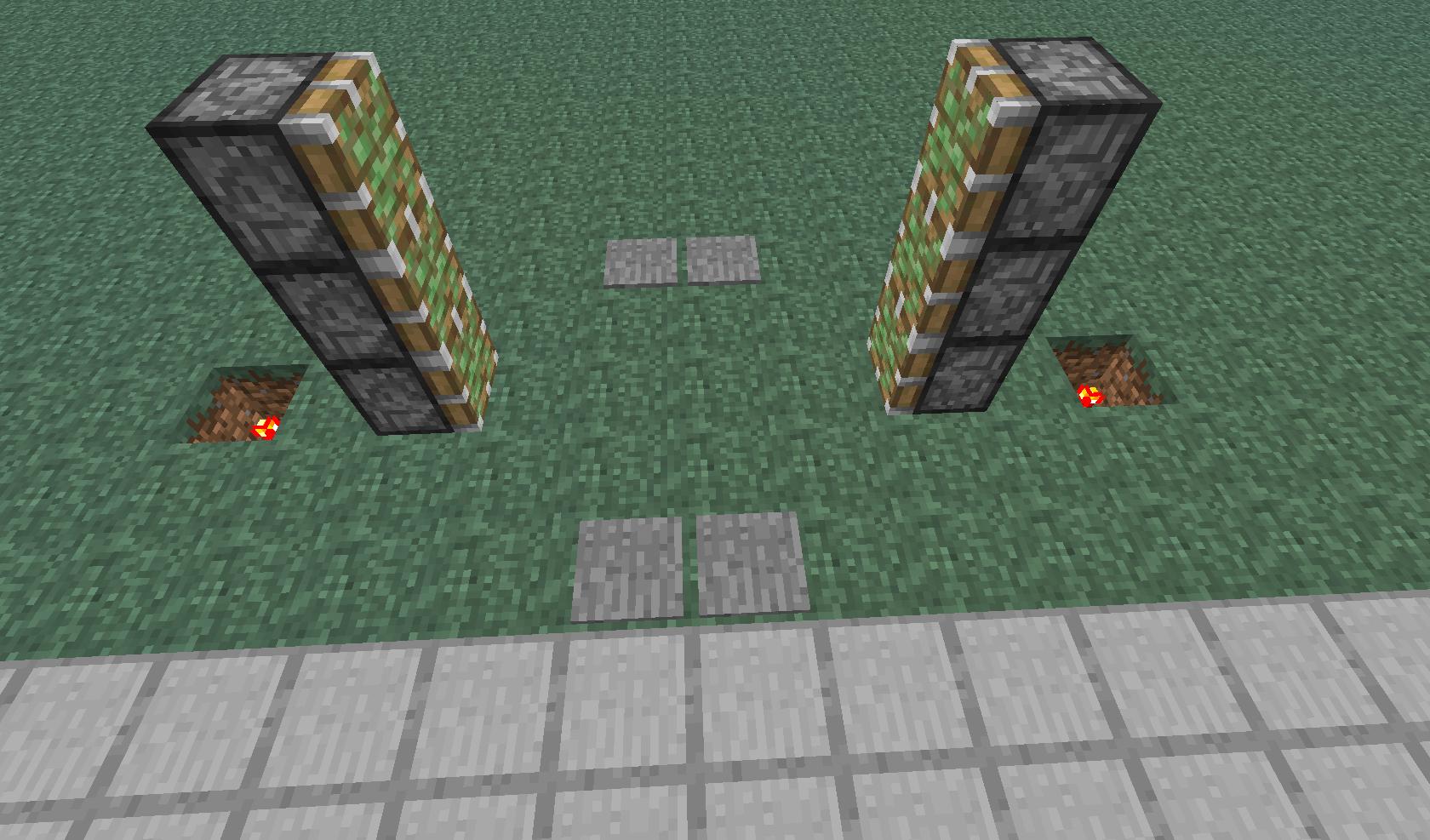 Minecraft схема поршня
