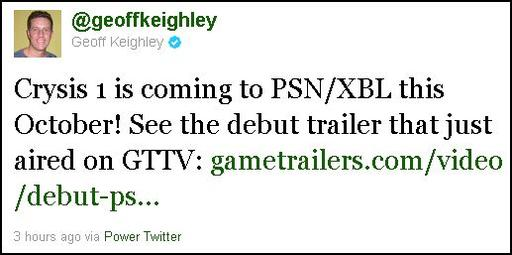 Crysis - Crysis для PS3 и Xbox360 в октябре в PSN и Xbox Live