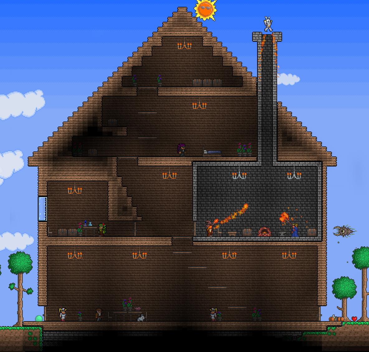 Как в террарии сделать крутой дом в