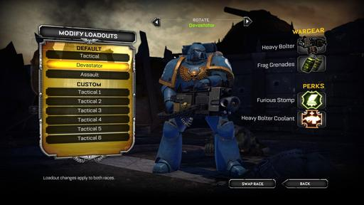 Warhammer 40,000: Space Marine - Space Marine. Хорошая игра без претензий на шедевр.