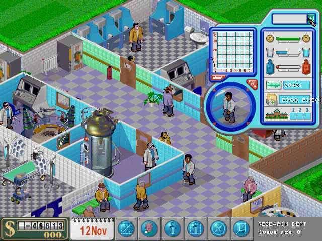 Если вы думаете, что управлять частной клиникой легко и просто, то для вас существует theme hospital, игра