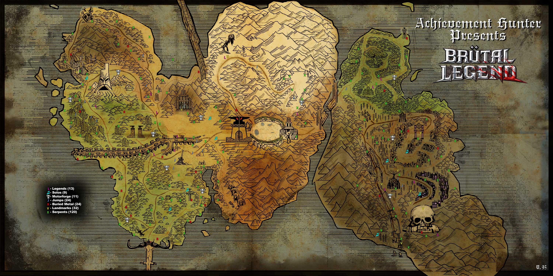 карту со всеми предметами