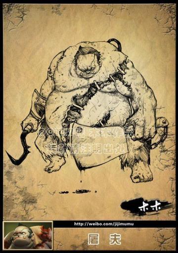 DOTA 2 - Арты героев игры нарисованные китайским фанатом
