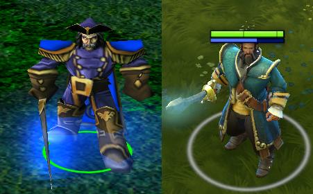Dota и Dota 2 Сравнение моделек героев Dota 2 Игры