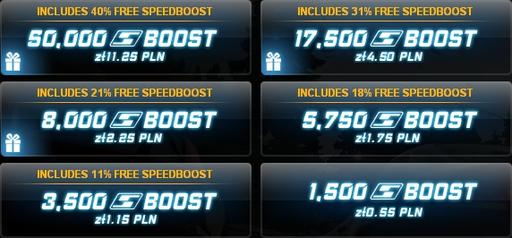 Need for Speed: World - ~180'000 SpeedBoosts за 13$