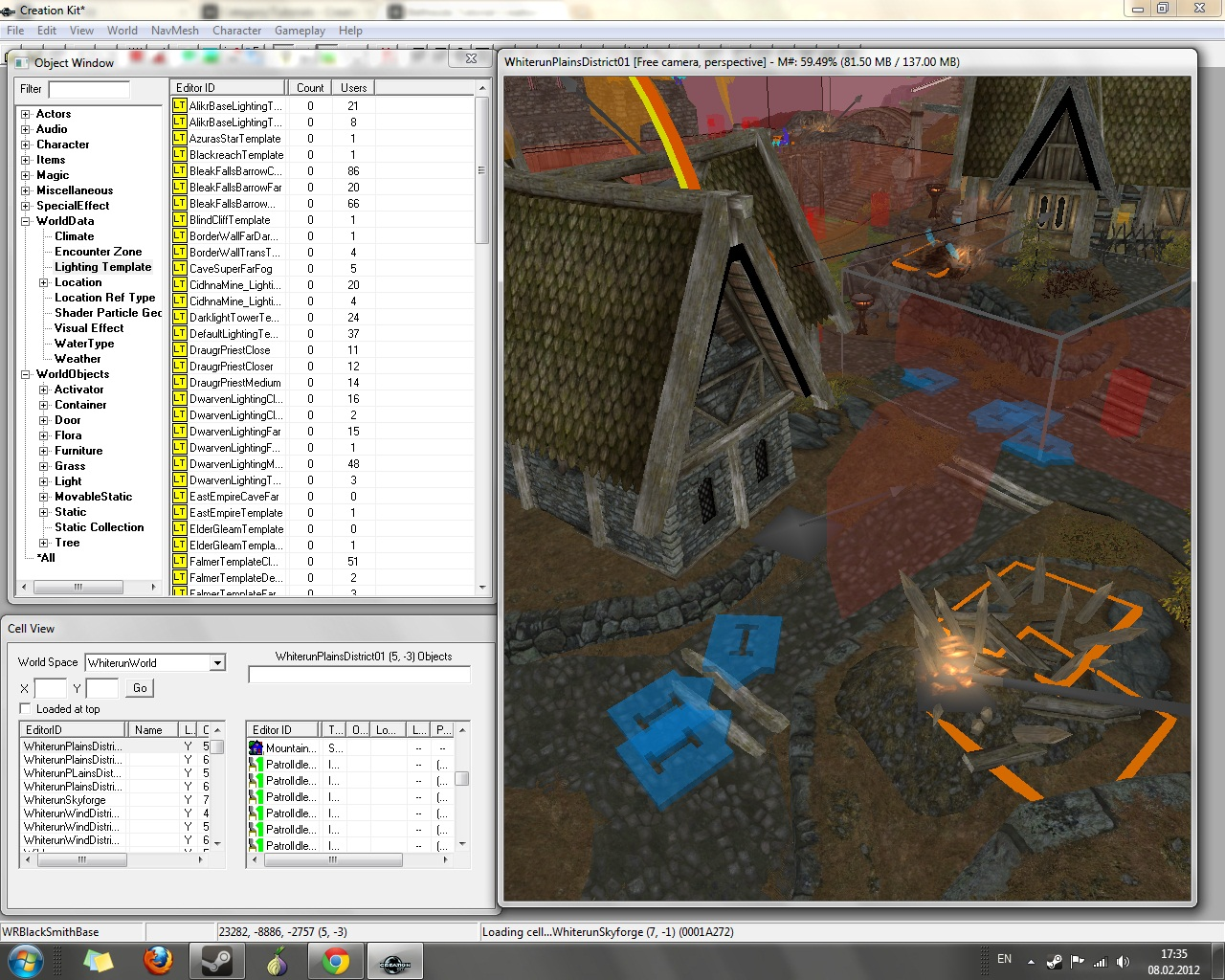creation kit как загрузить несколько мастер файлов