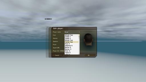 ArmA 2: Day Z - Как изменить лицо персонажа?