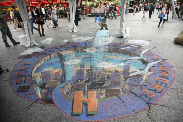 Sidewalk Canvas Chalk Pavement Art at Your Feet Julie