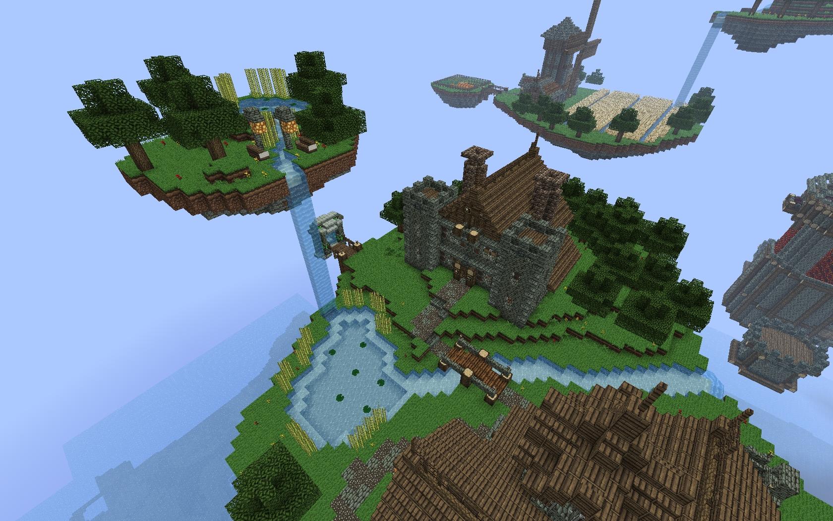 Minecraft летающие острова