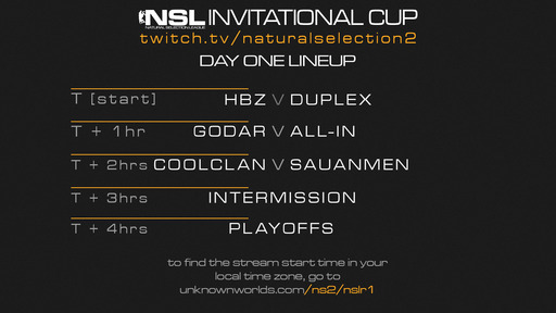 Natural Selection 2 - NSL Invitational Cup первый раунд