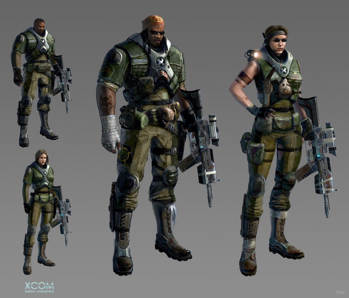 Concept art of an ethereal xcom aliens art