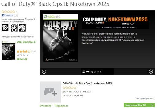 Call of Duty: Black Ops 2 - Скачайте бесплатно Call of Duty Black Ops II: Nuketown 2025!